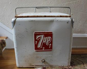 Vintage 7up Soda Cooler