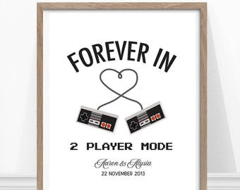 Video Game Wedding, Geek Wedding, Gaming art, Gift for Wedding, Gaming Poster, Geek Wedding Gift, Video Game Art