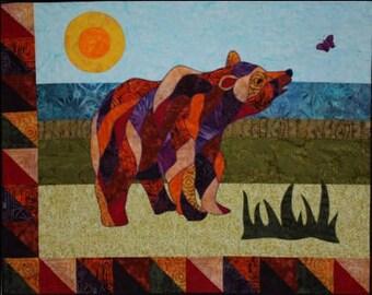 BJ Designs & Patterns Gretta Bear Applique Quilt Pattern