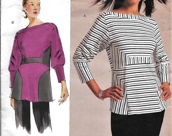 Vogue V1109 Today's Fit Sandra Vetzina PULLOVER TOP Sewing Pattern 1109 UNCUT All Sizes Bust 32-55