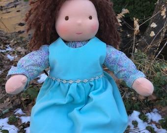 Waldorf Inspired Sitting Girl/Waldorf Baby Doll 15 inch Leesa