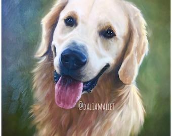 Custom Pet Portrait. Oil Painting on Canvas. Pet Memorial. Gift.