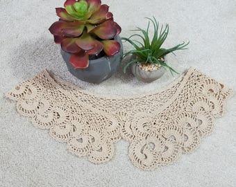 Vintage, crocheted collar, crocheted collar