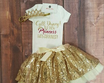 Baby Girl Clothes, Call Disney The New Princess Has Arrived! Bodysuit