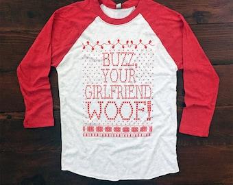 Home Alone Shirt. Ugly Sweater Party. Ugly Christmas Shirt. Funny Christmas Baseball Tee. Ugly Christmas. Christmas. Red.