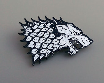 House Stark Dire Wolf Sigil Pin  - Game of Thrones Inspired