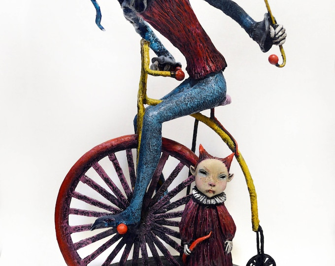 Who's Laughing Now? - An Original Sculpture by Lisa Snellings