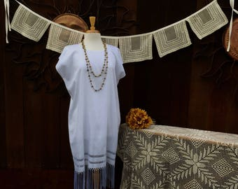 Mexican Huipil Wedding Dress, Unique Wedding Dress, White Huipil Dress, Ethnic Wedding Dress, Bohemian, Hippie, Ethnic, Free US Shipping
