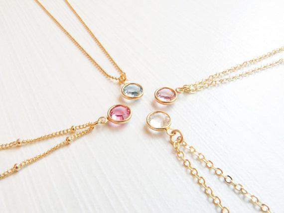 Dainty Birthstone Necklace