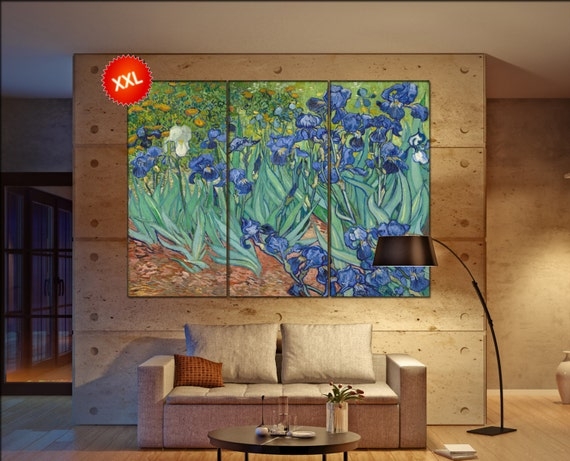 Irises van Gogh  print canvas wall art Large Irises van Gogh painting art artwork large art office decoration