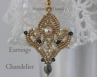 Pdf beaded bracelet tutorial seed bead swarovski crystal pdf tutorial seed beads earrings pattern chandelier swarovski pearls crystals beadweaving aloadofball Images