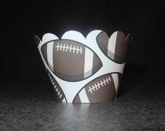 Football Cupcake Wrapper- Set of 12