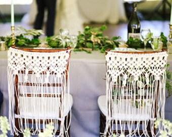 """Macrame Wedding Chair Back Decor Bohemian  Boholife Boho Wedding """"Celebration"""""""