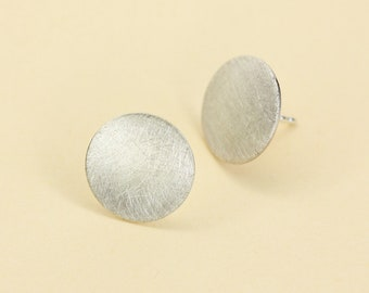 Earrings Big Circle in Silver