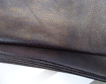 Coupon - 50X70cm - faux leather - Brown bronze-