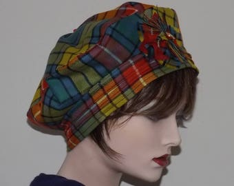 Ladies Buchanan Tartan Tam, Traditional Scottish Tam, Highland Hats, Hogmanay