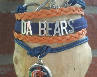 Da Bears love Bracelet