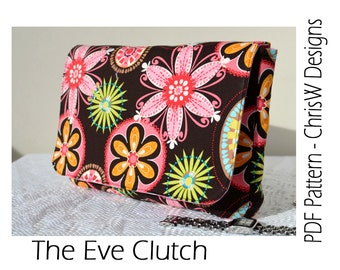 Clutch pattern PDF with lots of Pockets - Eve by ChrisW Designs