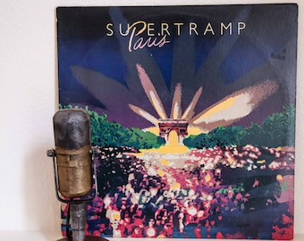 """Supertramp Vinyl Record Album 1970s Classic Rock English Art Pop 2LP """"Paris (Live)"""" (1980 A&M w/""""The Logical Song"""" and """"Bloody Well Right"""")"""
