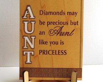 Great Aunt Gift-Gifts for Auntie-Mother's Day-Aunt Mothers Day-Aunt Birthday-Auntie Gift Ideas-Plaque, PLA009