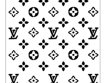 LV inspired Pattern Stencil -  Reusable Stencil   - DIY Stencil - Multipurpose Stencil - Custom stencil