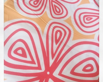 Follow Your Imagination By Prints Charming Big Flowers Apricot Fat Quarter Quilt Fabric Sewing Fabric Retro Fabric