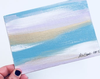 Light blue abstract acrylic painting