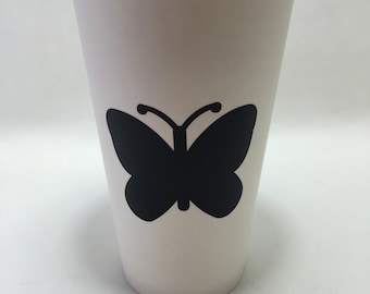 Butterfly adhesive chalkboard labels birthday party silhouette party mason jars