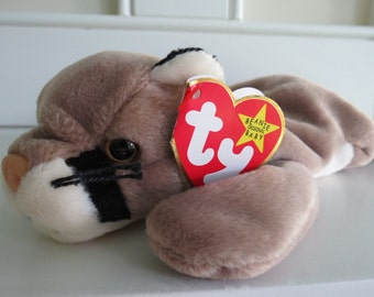 RARE Ty Beanie Baby - CANYON the Couger, Tag ERROR, 5th Generation Swing Tag, Tush Tag, Made in China, Mint Condition
