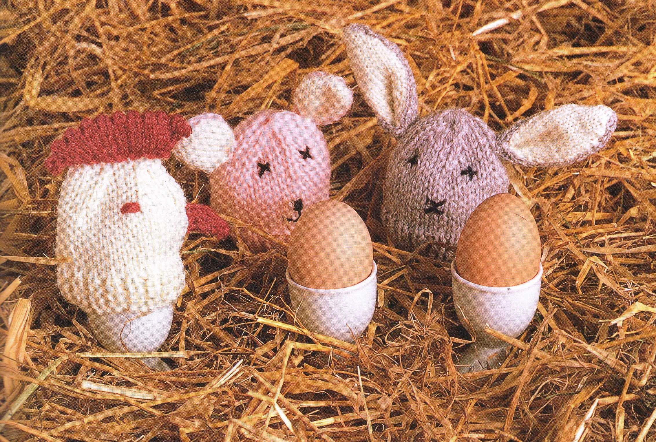 PDF egg cosies Knitting Pattern/ Egg Cosy / Easter Bunny, Easter ...