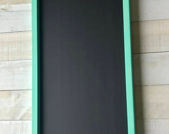 Turquoise Framed Chalkboard With Chalk Tray/Farmhouse Chalkboard/Coastal Decor/Kitchen Chalkboard/Chalkboard/Framed Chalkboard/Beach Decor