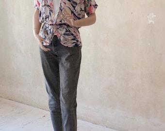 Pastel 80s Vintage Dolman Shirt Size M E D I U M