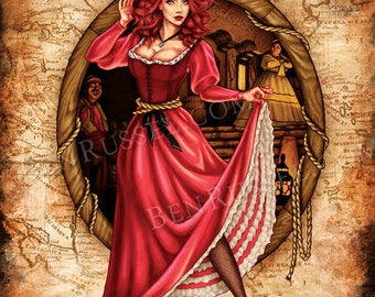 We Wants the Redhead, Pirates of the Caribbean Inspired 11x14 Print