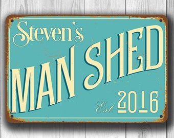 MAN SHED SIGN, Customizable Man Shed, Vintage style Man Shed Sign, Customizable Signs, Man Shed Signs, Custom Man Shed sign, Man Shed Decor