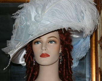 Edwardian Hat, Downton Abbey Hat, Kentucky Derby Hat, Ascot Hat, Wedding Hat, Church Hat, Easter Hat - Mademoiselle Toulouse-Lautrec