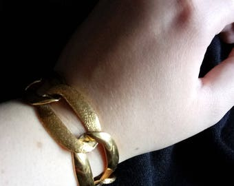 1980s Heavy linked Bracelet