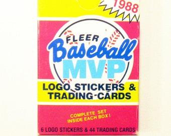 """1988 FLEER """"Baseball MVP"""" Set -Logo Stickers & Trading Cards"""