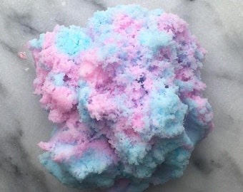 Free shipping Cotton Candy Cloud Fluffy two colour Slime