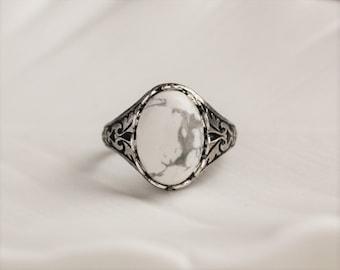 Howlite Ring