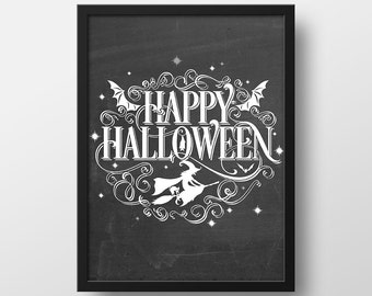 Items Similar To Halloween Witch Print  Witch Art Print  Halloween