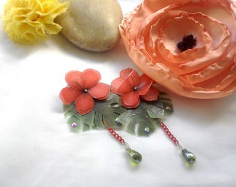 Exotic Flower Earrings