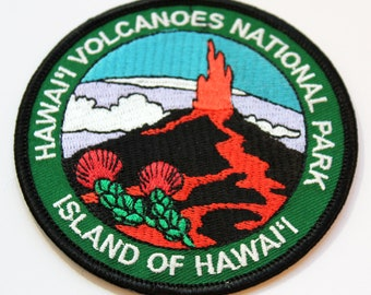 Official Hawai'i Volcanoes National Park Souvenir Patch Island of Hawaii Big Island Scrapbooking FREE SHIPPING