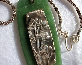 Crepe Myrtle Blossom Pendant-Fine Silver and Polymer