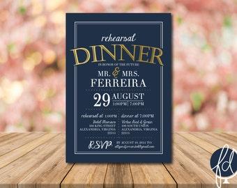Printable Rehearsal Dinner Invitation