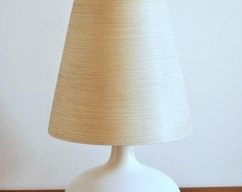 Mid Century Danish Modern Ceramic Lotte Bostlund Table Lamp & Shade