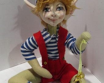 "SM924E - Pix & Pax  - 9"" Pixie/Elf/Fairy Cloth Doll Making Sewing Pattern - PDF Download"