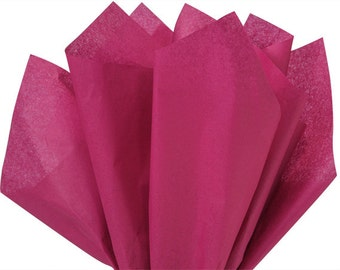 """CRANBERRY Tissue Paper for Gift Wrapping 15""""x20"""" Solid Sheets (Your Choice of Quantity) Free Shipping!"""