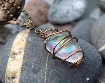 Angel Aura Bronze Leaf Necklace