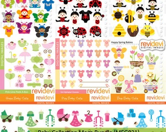 Baby clipart sale bundle / Commercial use babies clip art / cute babies in costumes - spring, ladybug, bee, butterfly