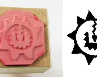 Petroglyph Sun Design Stamping Tool - Clay Design Stamping Tool - Textile Design - PMC Stamp Tool - ScrapBooking Design Stamp - Ceramic Clay